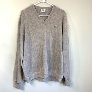 VTG Lacoste Gray Purple V Neck Oversized Sweater